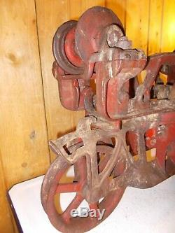 Antique Jamesway 1058A Hay Trolley Carrier Unloader Barn with Trip and Pulley