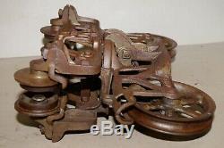 Antique Jamesway hay trolley patent pending carrier unloader barn industrial