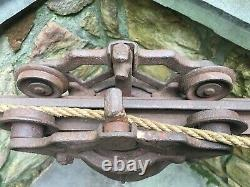 Antique Jewel Louden Hay Carrier Trolley Barn Pulley Cast Iron Patent 1896
