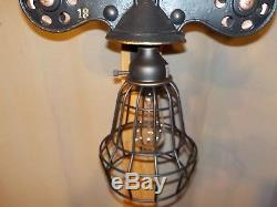 Antique LEADER Hay Trolley/ Unique hanging light or wall lamp