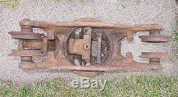 Antique Louden Senior Cast Iron Farm Barn Hay Trolley Adjustable Swivel
