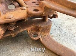Antique MILWAUKEE Cast Iron Trolley Barn Carrier Farm Wisconsin Hay Tool