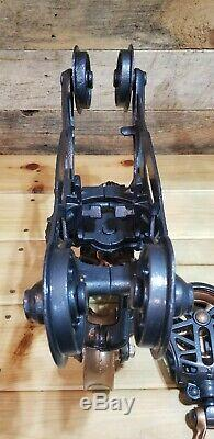 Antique Meyers Hay Carrier Unloader Trolley Complete Restoration From 1920' S