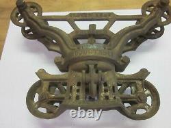 Antique Myer's & Bro's MFg Cast Iron Hay Trolley Carrier Unloader Clover Leaf