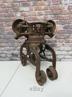 Antique Myers & Bros Cloverleaf Unloader Hay Trolley Complete Working Condition