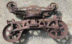 Antique Myers H424 OK Unloader Barn Hay Trolley Carrier Pulley Cast Iron 23-1/4