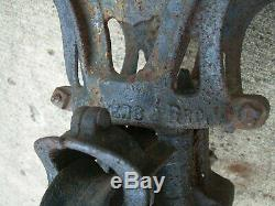Antique Myers Hay Unloader Trolley and Forks