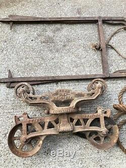 Antique Myers OK Hay Trolley Unloader Vintage Farm Collectible 100% Complete
