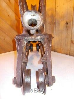 Antique NEY Hay Trolley Carrier Unloader Barn Decor Light with Drop Pulley