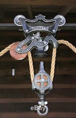 Antique Ney Hay Trolley Pulley Cast Iron Farm Barn Tool