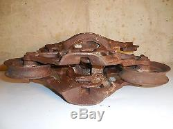 Antique Ney Mfg Co. Unloader Hay Barn Trolley Carrier Cast Iron Industrial