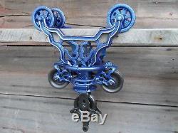 Antique Original F. E Myers Hay Trolley Ornate Decor Light