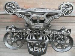 Antique Original Restored F. E Myers Cloverleaf Hay Trolley Rustic Decor Barn