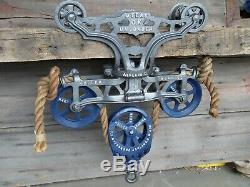 Antique Original Restored F. E Myers Hay Trolley Rustic Decor Barn Farm Light