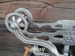 Antique Original Restored F. E Myers Hay Trolley Rustic Decor Barn Farm Tool