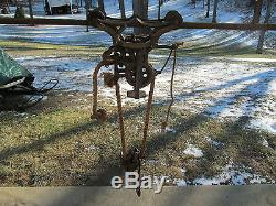 Antique Patent Aug. 19, 1890 Louden Hay Barn Trolley Unloader Elevating pulley