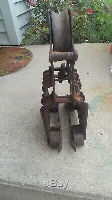 Antique Porter Hay Trolley Carrier Pulley. Hay Barn, Fram tools, hay Carrier