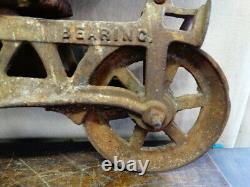 Antique Primitive Myers O. K. Unloader H-480 Hay Trolley Good Working Condition