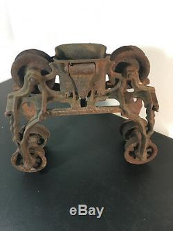 Antique Primitive Original F. E Myers Xjx Hay Trolley Rustic Barn Decor