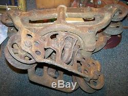 Antique STAR Hay Carrier Trolley Harvard ILL. Farm Tool Barn Find
