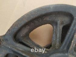 Antique Sauerman Brothers Industrial 21 Pulley, H624,12 wheel, Chicago, USA