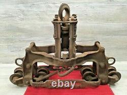 Antique The Goshen Cast Iron Hay Trolley Goshen Mfg. Co. Indiana 8 Wheel 1907