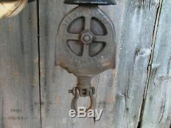 Antique V. L Ney Hay Trolley Original Rustic Decor Barn Tool With Center Drop