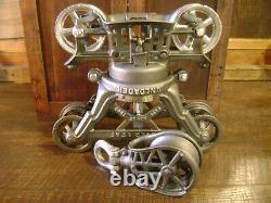Antique Vintage Cast Iron FE Myers Cloverleaf Hay Trolley Pat1895 Farm Barn Tool