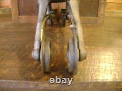 Antique Vintage Cast Iron FE Myers Cloverleaf Hay Trolley Pat1903 Farm Barn Tool