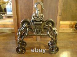 Antique Vintage Cast Iron FE Myers Hay Trolley Pat. 1884 Farm Barn Tool