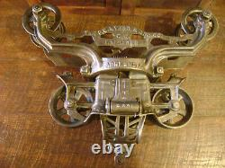 Antique Vintage Cast Iron FE Myers OK Hay Trolley Farm Barn Tool
