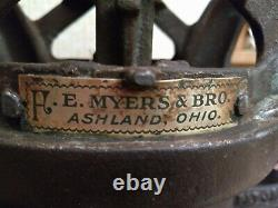 Antique Vintage Cast Iron H. E. Myers & Bro. Barn Hay Trolley Tool Loader