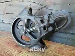 Antique Vintage Cast Iron HAY TROLLEY Barn Pulley Farm Tool Rustic Primitive
