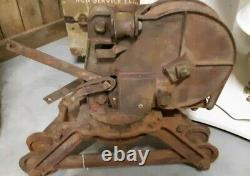 Antique Vintage Cast Iron Hudson Hay Barn Trolley Farm