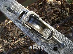 Antique Vintage Cast Iron Hunt Helm Ferris Hay Trolley Barn Pulley Farm Tool
