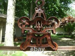 Antique Vintage Cast Iron Louden Royal Hay Trolley Pat1896 Farm Barn Pulley Tool