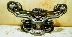 Antique Vintage Cast Iron Myers O. K. Uploader H 424 Hay Trolley Farm Barn Tool