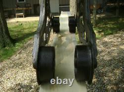 Antique Vintage Cast Iron Myers OK Hay Trolley Farm Barn Pulley Tool