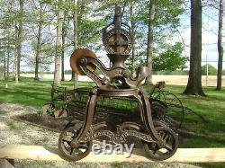 Antique Vintage Cast Iron Ney Mfg. Hay Trolley Pat. 1879 Farm Barn Tool