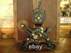 Antique Vintage Cast Iron Ney Mfg. Hay Trolley Pat. 1887 Farm Barn Pulley Tool