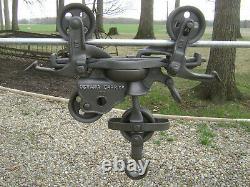 Antique Vintage Cast Iron Oshawa Rod Car Hay Trolley Farm Barn Primitive Tool