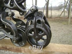 Antique Vintage Cast Iron Porter Hay Trolley Pat. 1906 Farm Barn Pulley Tool