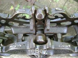 Antique Vintage Cast Iron Stowell Hay Trolley Farm Barn Pulley Carrier