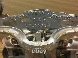 Antique Vintage F E Myers Barn Hay Trolley Carrier Restored Ok Adjustable