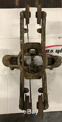 Antique Vintage F. E. Myers Bros O. K. Hay Unloader Barn Trolley with Drop Pulley
