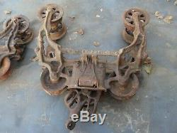 Antique Vintage F. E Myers Hay Trolleys