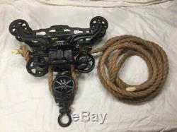 Antique Vintage F. E. Myers OK Unloader Barn Farm Hay Trolley Carrier Pulley