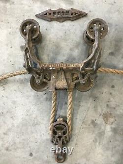 Antique Vintage Hay Barn Trolley Pulley