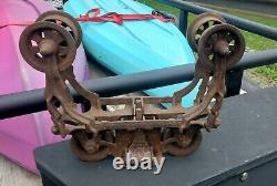 Antique Vintage Hay Trolley Cast Iron FE Myers OK Pat Nov 4 1884 Farm Barn Tool