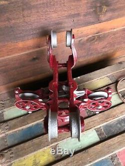 Antique Vintage Hay Trolley Cast Iron Farm Barn Tool Rustic Decor Barndominium